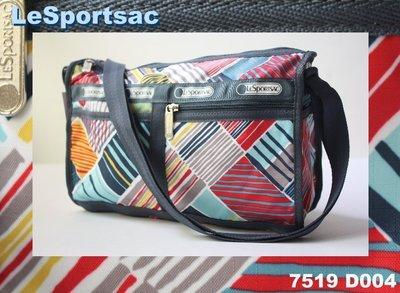 【LeSportsac】100% 全新正品 7519 D004 / NANTUCKET 多功能 肩背 側背 斜背包