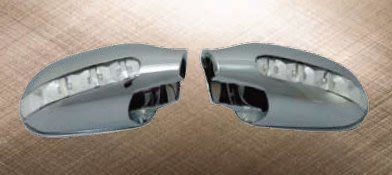 泰山美研社19012314 BENZ 賓士 W208 W168 R170 SLK 電鍍 晶鑽LED後視鏡外蓋組