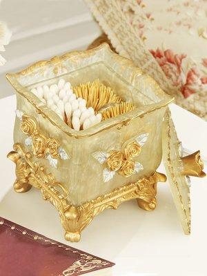 歐宴家用牙簽盒棉簽盒客廳收納盒組合套裝歐式個性創意可愛牙簽筒#收納盒#居家#方便#創意