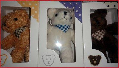 【滿意】OK商店 泰迪熊(黃色+白色+咖啡色)三款一組共450元,剰下一組。