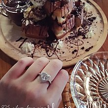 MONIC STAR❤️925純銀 國外訂製 甜美公主 Tiffany款式 愛心鋯石鑲鑽鑽戒 求婚戒指