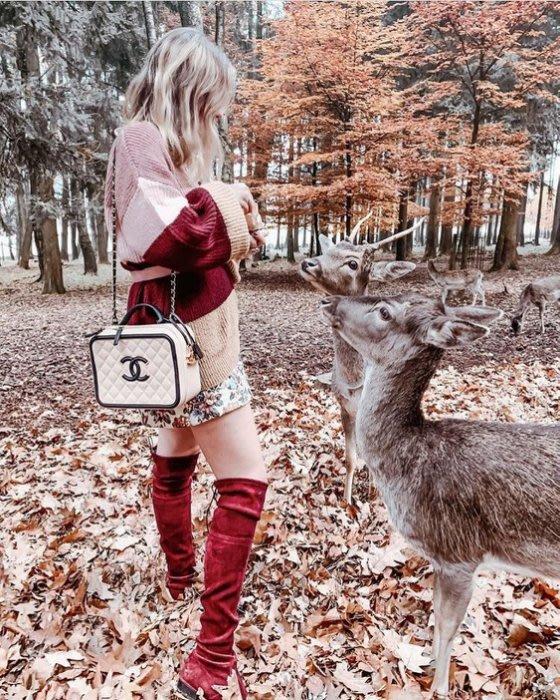 Chanel A93342 CC Filigree Vavnity Case Bag 小型荔枝紋鍊帶包 駝/黑