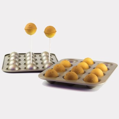 夢饗屋  12連棒棒糖蛋糕 迷你蛋糕模 烘焙模具 布朗尼 乳酪球 (DH-057)