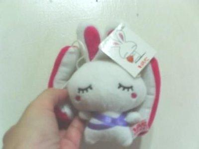 全新超人氣超可愛LOVE兔絨毛娃娃~降落傘造型