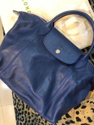 Longchamp 小羊皮 s號 藍色 台灣專櫃購入 有購證 法國制