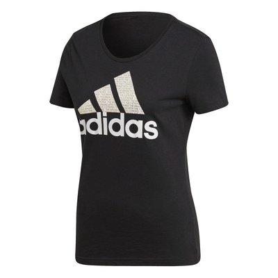 [麥修斯]ADIDAS  FOIL TEXT BOS 黑LOGO 女款3 短袖上衣 CV4561