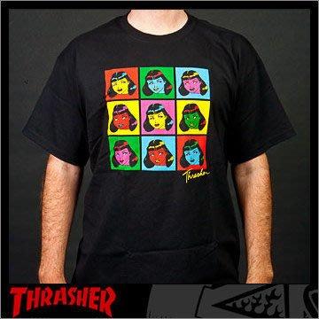 【THRASHER】some girls 純棉圓筒Tee (黑色)