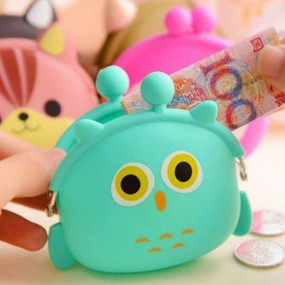 韓版動物軟矽膠零錢包 手拿包 雜物收納包-艾發現