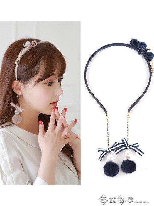 假耳環發箍流蘇耳墜發飾韓國頭箍蝴蝶結發帶時尚小清新發卡子頭飾