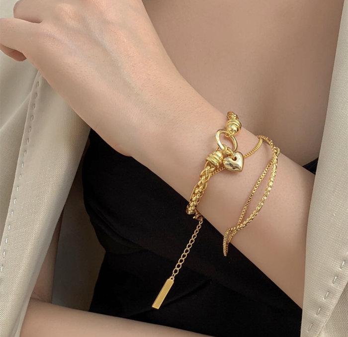 PapaDarling 20SS 歐美獨創設計款 嘻哈復古鏈條設計感 首飾 手鍊