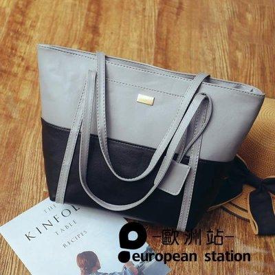 手提包/女包包包休閒單肩包撞色包