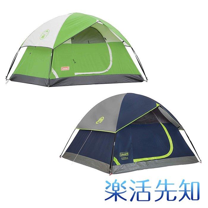 【樂活先知】『代購』 美國Coleman 露營 帳篷 四人帳  登山  野餐 戶外 藍/綠