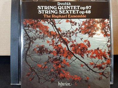 The Raphael Ensemble,Dvorak-S.quintet&Sextet,拉斐爾合奏團,德佛扎克-弦樂五&六重奏,如新。