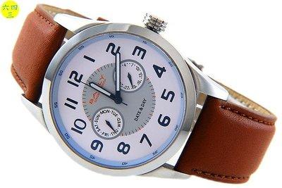 (六四三精品)BAKLY(真品).星期.日期多功能.不銹鋼錶殼精準手錶!