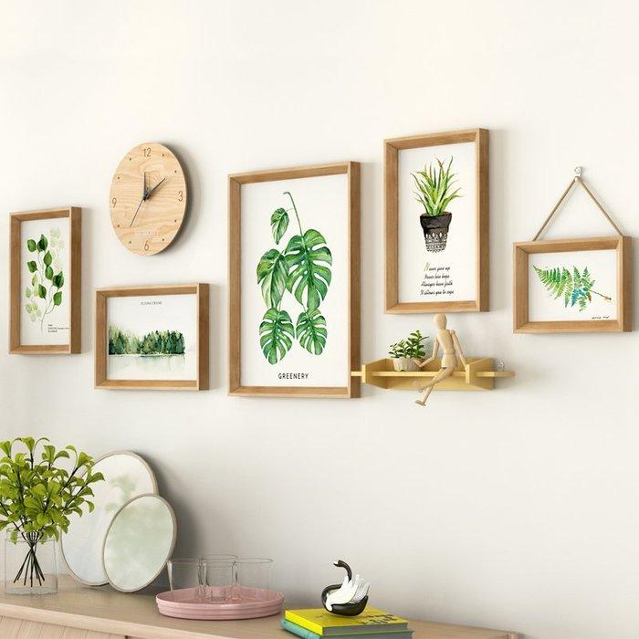 【Uluru】日式風格 時鐘組合畫 掛畫 牆面裝飾畫 北歐風格