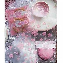 Osmileooo- 100個 和風櫻花磨砂自粘袋 禮品包裝袋 餅乾糖果袋 10×10cm