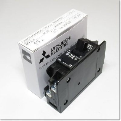 BV-C1,2P1E 15A 30mA漏電斷路器,用於分支電路(三菱電機) 新品 BV-Cl,2PlE BV-CI,2PIE BVC1,2P1E BV一C1,2