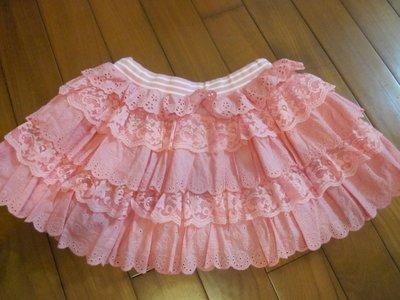 全新童裝出清--WHY AND 1/2--粉色蕾絲邊澎群--11號