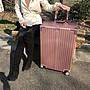 【26吋玫瑰金下標區】升級直角鋁框手把防刮拉絲 復古登機箱行李箱 復古直角 〈另有20/22/24/29吋〉胡