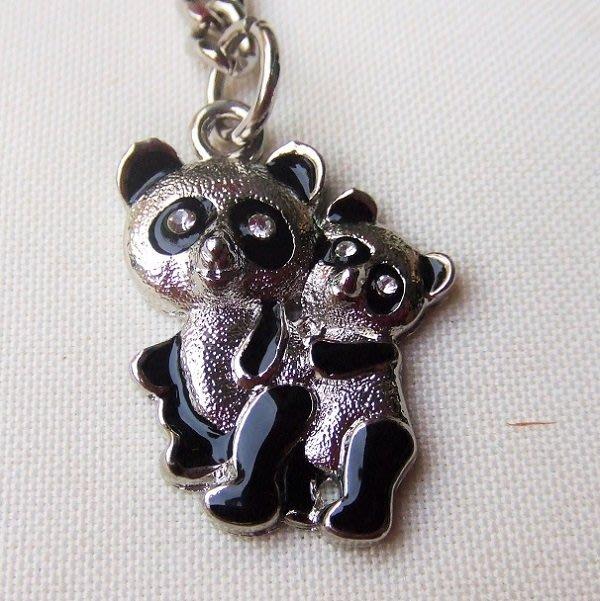 ☆創意小物店☆ 熊貓A-3 鑰匙扣/創意可愛金屬鑰匙圈 時尚造型個性飾品(扁圈或問號鉤  二選一)