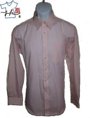 日本原裝GEAR男款 涼感 素面襯衫 修身 長袖-淺粉紅-L號【新春特賣】【J&K嚴選】LV來自星星的你