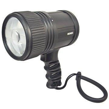 【BENEX】防暴雨鋁合金槍式高亮度探照燈/釣魚燈 ET-0811(使用 CREE LED 10W 防水防塵等級IPX6)