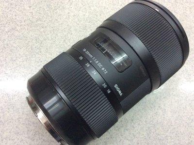 [保固一年[高雄明豐]  Sigma 18-35mm F1.8 ART DC HSM for Canon 便宜賣 高雄市