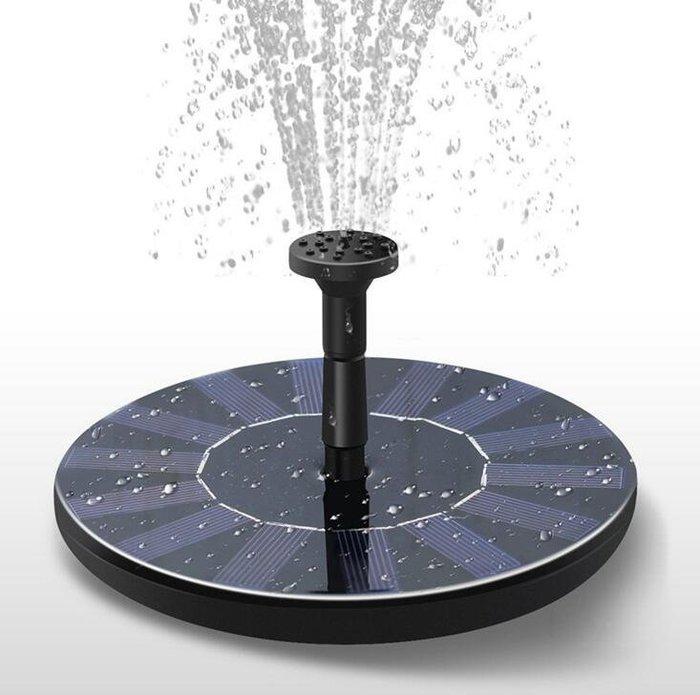 太陽能水汞花園微型漂浮噴泉 太陽能噴水器 水池裝飾噴泉 水泵餵鳥器 流水室外噴泉 太陽能噴泉10382