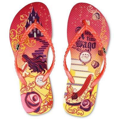 QWQ繽紛夾腳拖 玻璃鞋之約風格紅色 ...