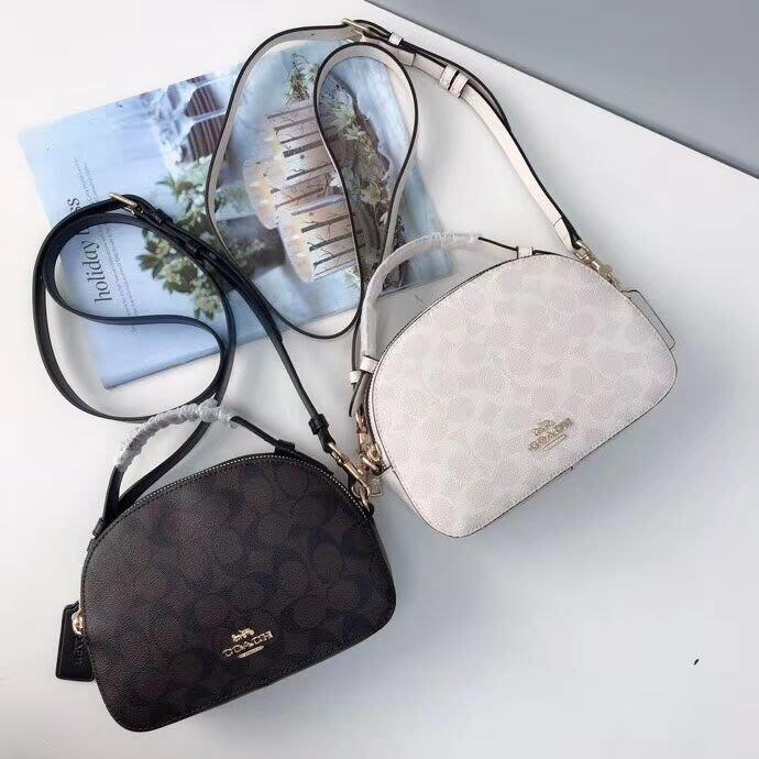 美國名品折扣店~ 特賣 COACH 1591 新款Serena系列單肩包 手提包 雙拉鏈斜跨包 女包