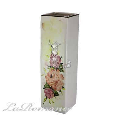 【芮洛蔓 La Romance】義大利 Ceramiche Fabbro 手繪粉玫瑰長方型花器 / 花盆 / 盆栽