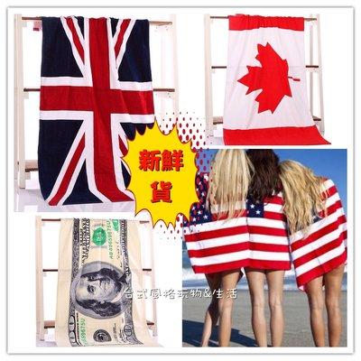 沙灘海灘毛巾美國英國加拿大國旗沙灘浴巾...