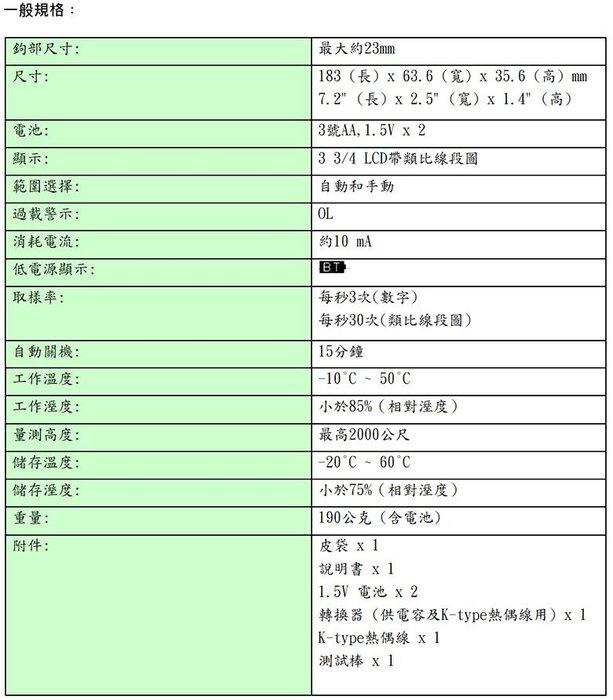 [晉茂五金] 泰仕電子 小電流鉤錶 CM-02 請先詢問庫存