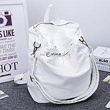 EmmaShop艾購物-正韓進口洗水羊皮2WAY後背包/復古/白色