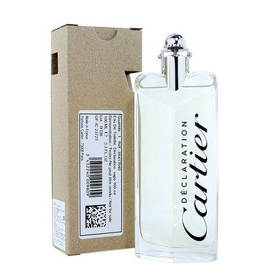 ☆MOMO小屋☆ Cartier Declaration 卡地亞宣言 男性淡香水 100ML TESTER 環保盒