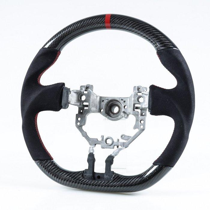 [卡夢碳纖維+麂皮] 方向盤 豐田toyota 86 速霸陸subaru BRZ用 2012-2016年式適用