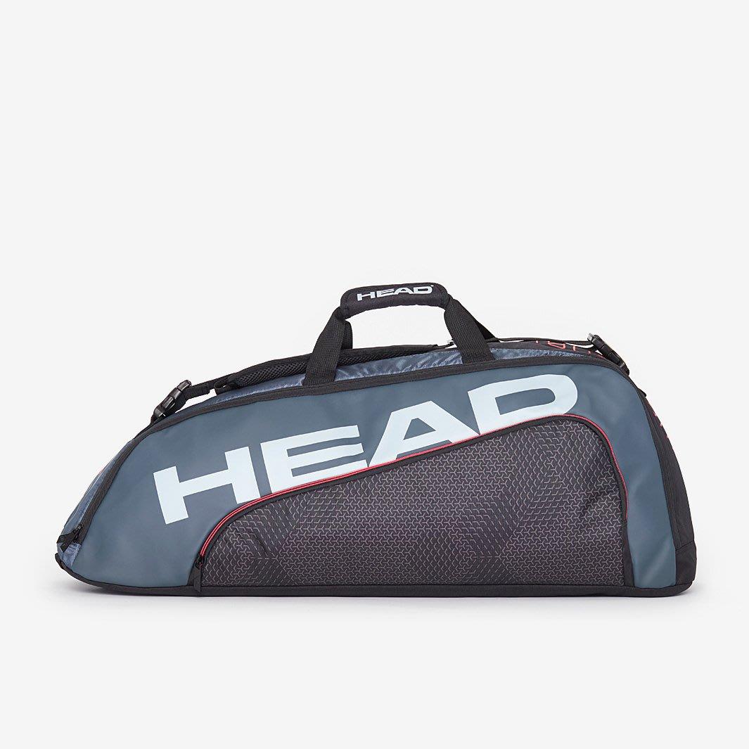 【曼森體育】HEAD TOUR TEAM COMBI 6支裝 球拍袋 黑銀 網球拍袋