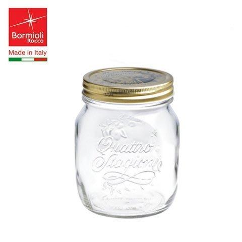 【無敵餐具】義大利FIDO玻璃四季果醬罐700cc(P34976)菲多密封罐收納罐玻璃扣環密封罐零食罐【L0015】