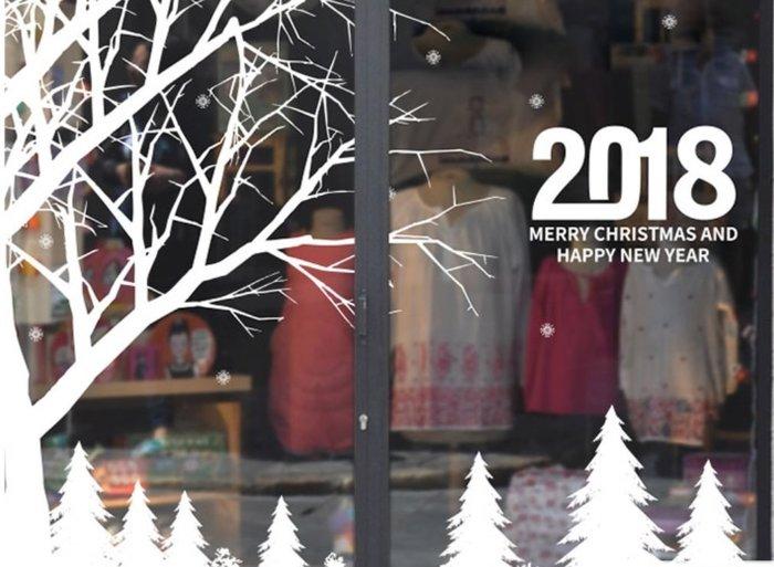 小妮子的家@靜電無膠全透明玻璃貼膜~雪的童話/i