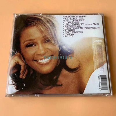 爆款CD.唱片~Whitney Houston I Look to You 永遠的金嗓傾情用心 CD 專輯