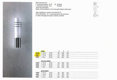 德國名牌 LIMBURG WALL LUMINAIRE FOR 1 X DULUX D 18W MODEL NO. 7418
