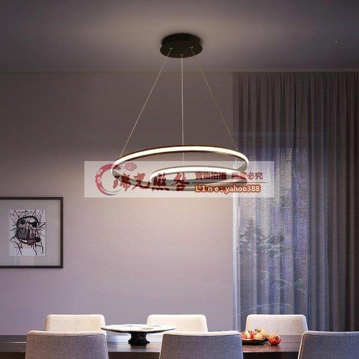 【美燈設】led餐廳吊燈現代簡約三頭客廳燈小餐桌吧臺藝術家用創意飯廳