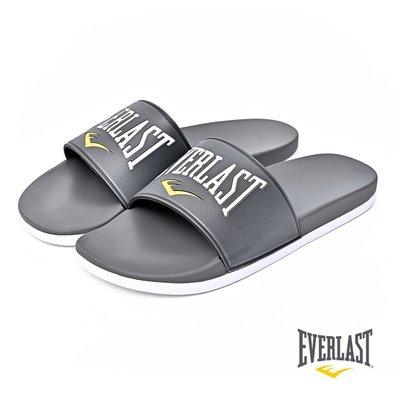 DIBO 弟寶~免運 現貨 美國 Everlast 男生 軟鞋墊 防滑EVA 運動拖鞋 SLIPPERS-藍色