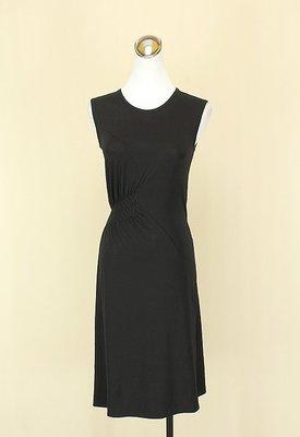 ◄貞新► SINGLE NOBLE 獨身貴族 黑色圓領無袖牛奶絲洋裝S號(14407)