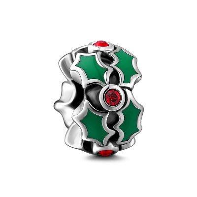 *現貨*SOUFEEL索菲爾 純銀手鍊珠飾 925純銀串珠 固定隔片 定位珠 聖誕系列   聖誕花環