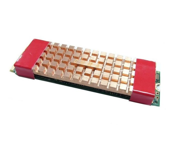 光華CUMA散熱精品*M.2 專用銅製散熱片 2280 固態硬碟用 70x21.5x4 mm台灣製/實測降溫20度~現貨