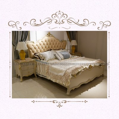 [紅蘋果傢俱] CT-008 新古典系列床 床頭櫃 歐式 新古典 高檔 法式 奢華