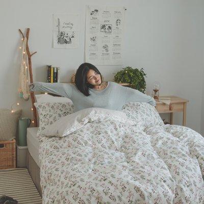 床包被套組(薄被套)-加大 / 100% 精梳純棉 / 茉莉