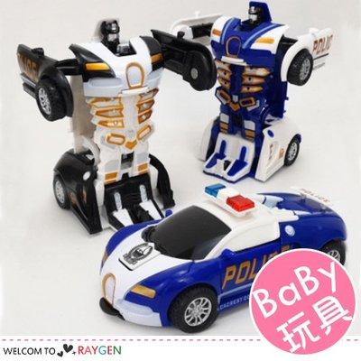 HH婦幼館 警車一鍵撞擊變形金剛兒童玩具車【1A046G891】