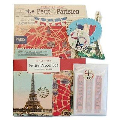 《散步生活雜貨-文具散步》日本進口 Cavallini -Petite Parcel Set  復古風 巴黎鐵塔 包裝組
